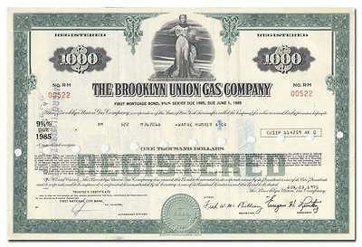 Brooklyn Union Gas Company Bond Certificate