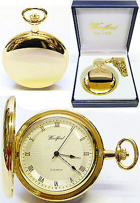 Woodford Hunter Pocket Watch, 17 Jewel GP Radial Face with Free Engraving (1053)