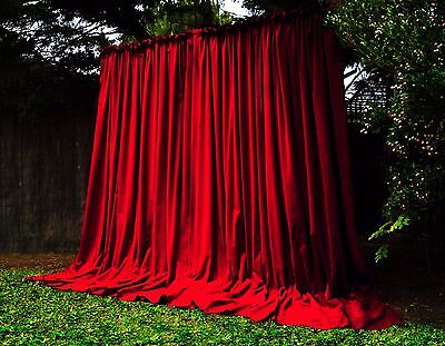PARIS Ap GOTHIC PURE COTTON VINTAGE VELVET CURTAINS STUDIO THEATRE PORTIERRES XL