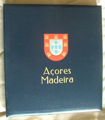 Azores and Madeira Hingeless Stamp album with UMM stamps 1980 to 1989