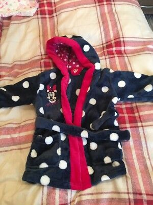 Girls Minnie Mouse Dressing Gown 9-12 Months
