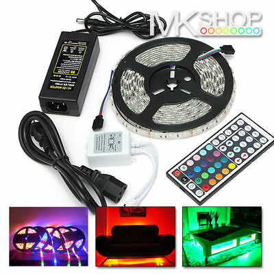12V 5050 LED SMD Waterproof RGB White Blue Green Red Strip Light Car Jeep Taxi