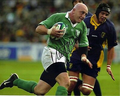 Keith Wood Signed 12X8 Photo Lions Munster & Ireland Rugby AFTAL COA (2314)