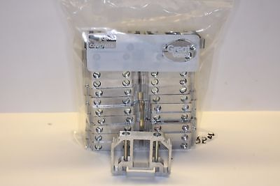 PHOENIX CONTACT TERMINAL BLOCK END CLAMP bag of 25 ALUMINUM