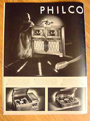 1948 Philco AM FM Radio Phonograph Console Ad