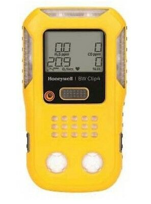 BW Honewell BWC4-Y-N Clip4 4-Gas Detector (O2, LEL, H2S, CO), Yellow