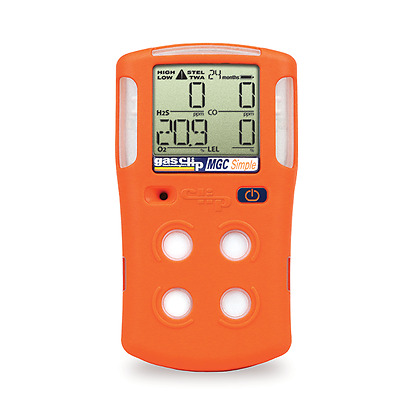 Gas Clip MGC-S Multi Gas Clip Simple Gas Detector, 4 Gas, 2 Year
