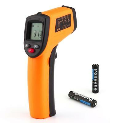 Temperature Gun Non-contact Infrared IR Laser Digital Thermometer+AAA Battery U#
