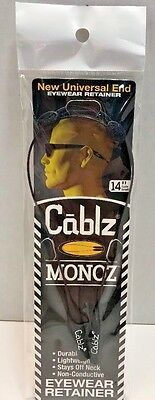 "CABLZ 14"" Black Sunglasses Glasses Holder MONOZ Adjustable ZIPZ Eyewear Retainer"