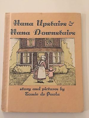 Vintage Book Nana Upstairs and Nana Downstairs by Tomie dePaola 1973 Hardcover