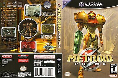 Metroid Prime Replacement Game Cube Box Art Case Insert Cover Scan