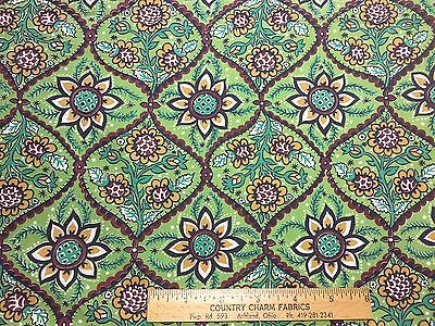 Vintage Cotton Fabric 50s CUTE Sunflowers Floral 35w 1yd