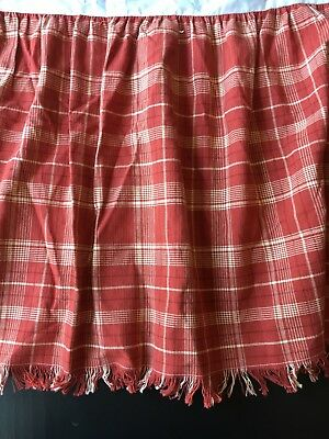Baby Crib Skirt Dust Ruffle Red Plaid Fringe