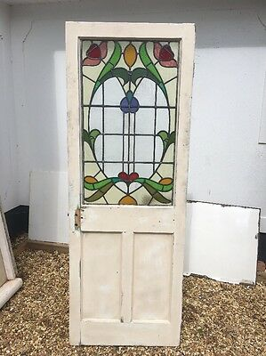 Victorian Stained Glass Door Porch Reclaimed Period Old Antique Lead Vestibule :