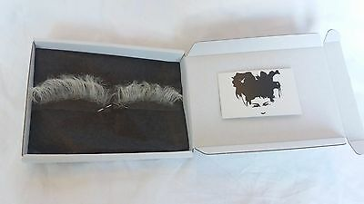 Quality Fine Lace White Yak Hair Old Age Santa Eyebrows TV Film Theatre
