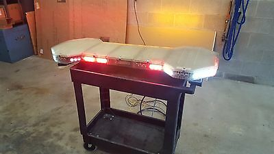 Code 3 XF2300 LED Light Bar - R W A - Takedowns alley lights long cable