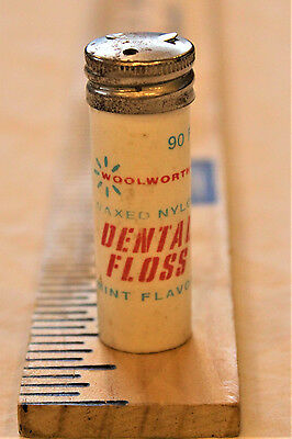 Vintage Antique Woolworths Medical/Dental Floss Container