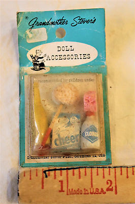 Vintage Doll Accessories Miniature Cleaning Supplies NEW in original package