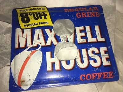 Unique Handmade Maxwell House Coffee Tin Outlet Plate Cover
