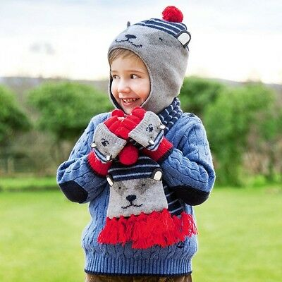 NWT! JoJo Maman Bebe wool blend badger scarf - childrens