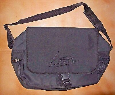 NWOT Leo's Oversized Nylon Canvas Dance Bag Black  Zipper Closure Buckle Logo