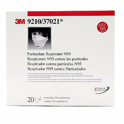 New Box Of 20 3M 9210 9210/37021 Particulate Respirator N95  Masks