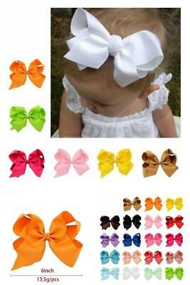 Grosgrain Ribbon Boutique Hair Bows Alligator for Baby Girls, 20 PCS 6 Inch
