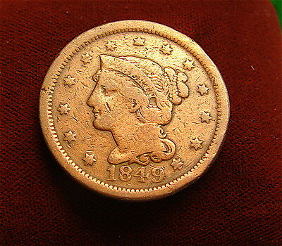Large Cent~~~~1849~~~~~Good Coin