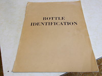 """old"" Bottle Identification Book...1965"