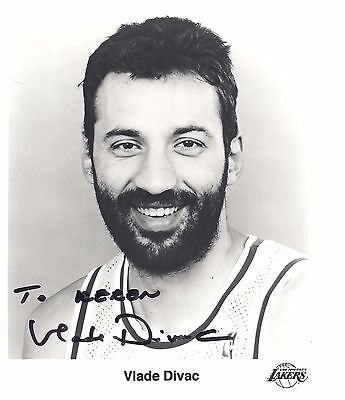Original Hand Signed Photo Of Vlade Divac    La Lakers 8 By 10 Glossy