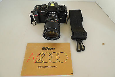 Vintage Nikon 35mm SLR Film Camera Model No. N2000