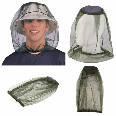 Mosquito Hat Net Head Protector Bee Bug Mesh Insect Mozzie Fishing Fly Mask New