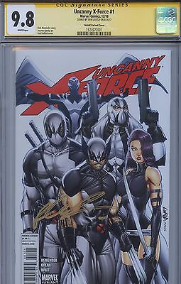 SS CGC 9.8 NMM Uncanny X-Force 1 Variant Sgn by Liefeld Wolverine Deadpool X-men