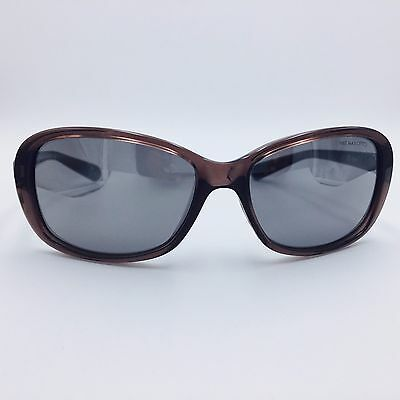 Nike POISE EV0741 205 Clear Brown Square Frame w/ Gray Lenses