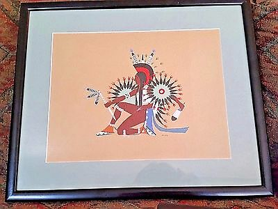 Native American Kiowa Spencer Asah Pochoir C. Szwedzicki Collection 1929 Rare
