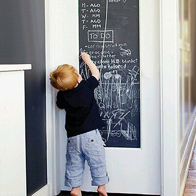 NEW Vinyl Chalkboard Wall Stickers Removable Blackboard Decals DIY