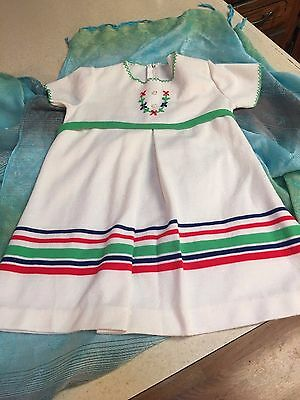 Vintage Guessing 1950s 1960s Baby Girl  Dress