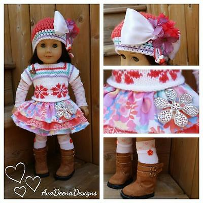 Complete Flower  outfit  clothes for 18 inch doll - american girl doll