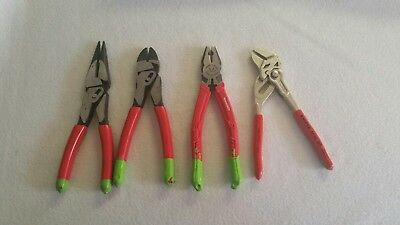 Pliers Lot GearWrench Pivotforce 32120 83121 Vampires V1-001-8 Knipex 86 03 180