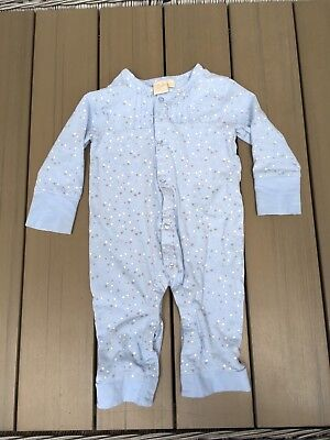 Baby Boy Unisex Toffee Moon Stars Romper All In One Baby Grow 6-9 Months Pyjamas