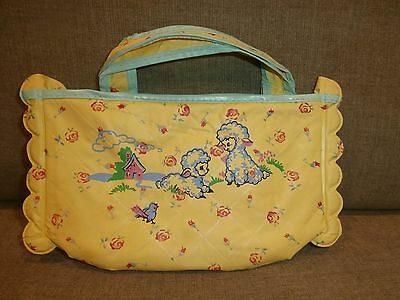 Vintage Baby Bag Plastic with Zippered Top Excellent Condition