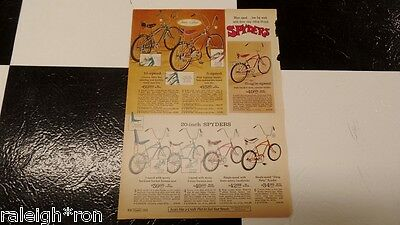 Sears Spyder Muscle Bike Bicycle Ad Catalog Advertisement