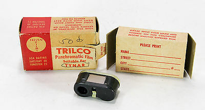 TRILCO 16mm Panchromatic Film in Cassette for Tynar, in Box 24 exp. expired 1952