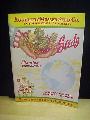 Vintage Aggeler & Musser Seed Co., Los Angeles Seed Catalog
