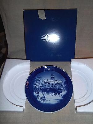 1992 Royal Copenhagen Christmas Plate The Royal Coach In Box