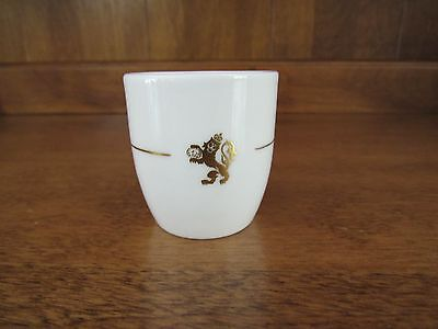 Royal Doulton~Fine Bone China Egg Cup~Ivory w/Gold Trim and Lion~ England  Ex!