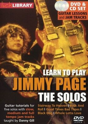 Learn To Play Jimmy Page The Solos Lick Library Tuitional Tutorial Dvd