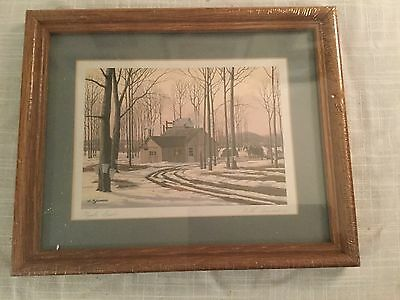 Maple Bush Hand Titled Signed Print Matted Framed Williams (Bill) Saunders