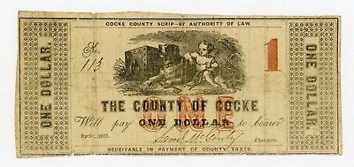 1863 $1 The County of Cocke - TENNESSEE Note CIVIL WAR Era