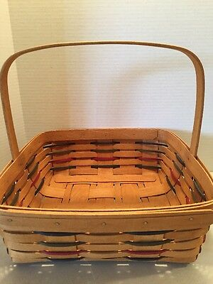 1994 Longaberger Basket Square With Handle